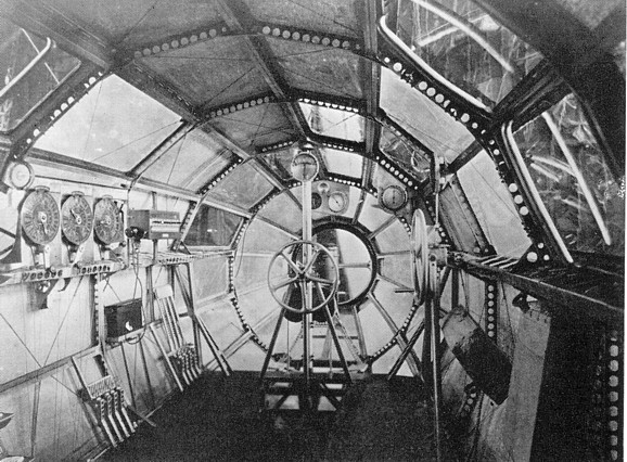 U S S Macon Being Inflated Rare View Of The Interior Of